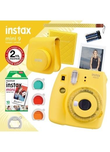 Fujifilm instax mini 9 Sari Fotograf Makinesi ve Hediye Seti 2 Renkli